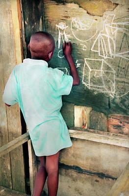 Photograph - A Boy Artist In The Creeks by Muyiwa OSIFUYE