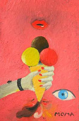 Ice Cream Painting - An Accident by Moma Bjekovic