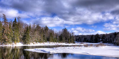 Photograph - An Adirondack Snowscape by David Patterson