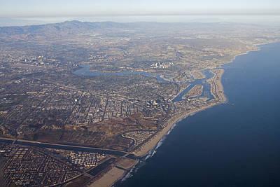 An Aerial Of Newport Beach Harbor Art Print