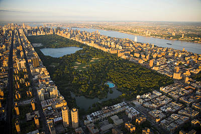 An Aerial View Of Central Park Print by Michael S. Yamashita