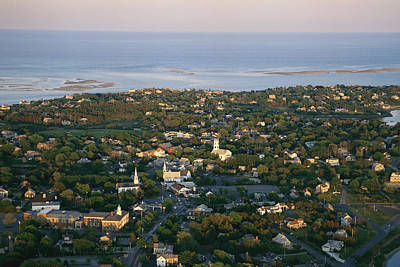 An Aerial View Of Chatham Art Print by Michael Melford