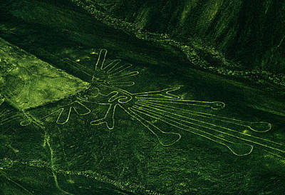 Peru Photograph - An Aerial View Of The Nazca Lines. They by Bates Littlehales