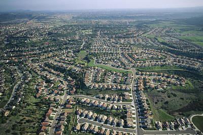 An Aerial View Of Urban Sprawl Print by Joel Sartore