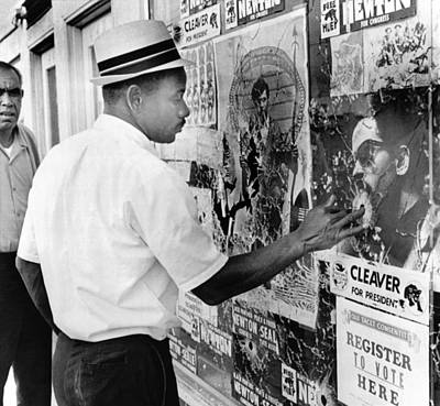 An African American Pokes His Finger Art Print by Everett