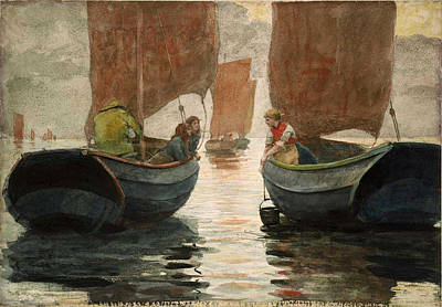 Winslow Homer Painting - An Afterglow by Winslow Homer