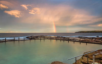 Maroubra Photograph - An Afternoon Rainbow by Evan Christie