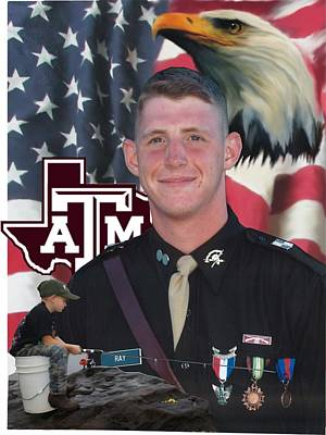 Painting - An Aggie Hero by Ken Pridgeon