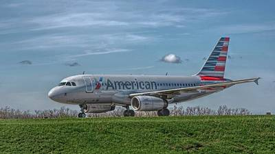 Photograph - An Airbus A319 In Hdr by Guy Whiteley
