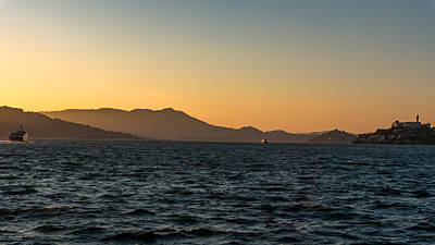 Photograph - An Alcatraz Sunset by Nisah Cheatham