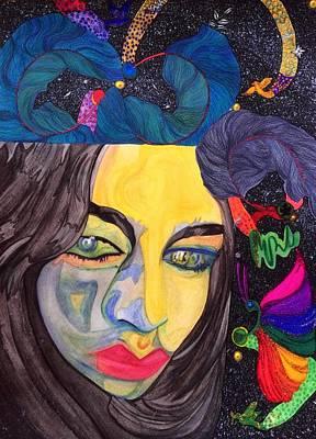 Oneself Painting - An Alien's Humanity Tale. by Tejsweena Renu Krishan