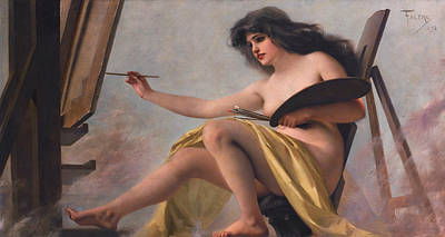 Luis Painting - An Allegory Of Art by Luis Ricardo Falero