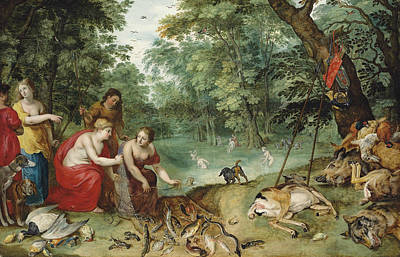 Painting - An Allegory Of The Elements, Earth, Air And Water by Hendrick van Balen