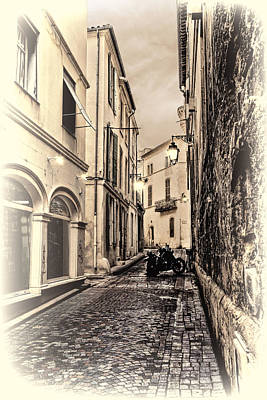 Photograph - An Alley In Avignon In Monotones by Kay Brewer