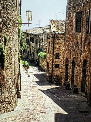 Photograph - An Alley Way In France by Rena Trepanier