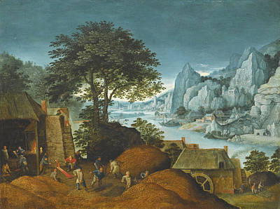 Painting - An Alpine Landscape With An Iron Foundry And Blast by Maerten Ryckaert