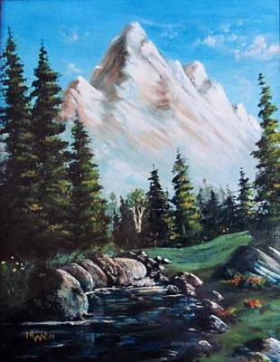 An Alpine Stream Art Print