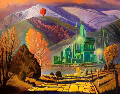 Art Print featuring the painting Oz, An American Fairy Tale by Art West