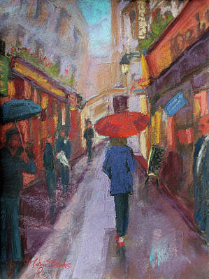 Painting - An American In Paris  by Mary Benke