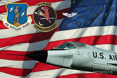 Beaches And Waves Rights Managed Images - An American TF-102A ANG Royalty-Free Image by Tommy Anderson
