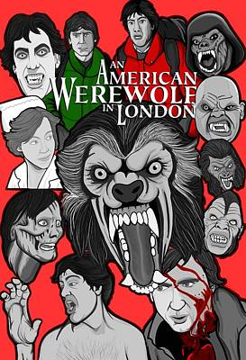Painting - An American Werewolf In London by Gary Niles