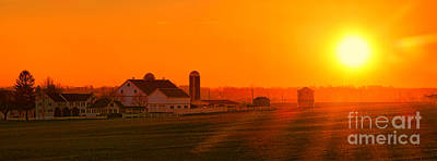 Amish Photograph - An Amish Sunset by Olivier Le Queinec
