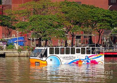 Photograph - An Amphibious Tourist Bus In Taiwan by Yali Shi