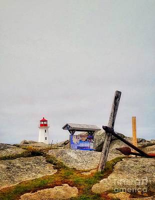 Photograph - An Anchor And A Lighthouse  by Mary Capriole