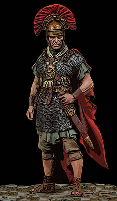 Painting - An Ancient Roman Legionary  by Andrea Mazzocchetti