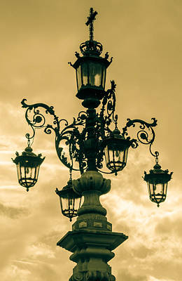 Caravaggio - An Ancient Streetlight in Seville by AM FineArtPrints