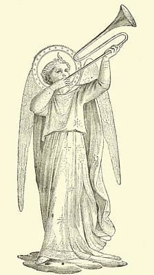 Christianity Drawing - An Angel by Fra Angelico