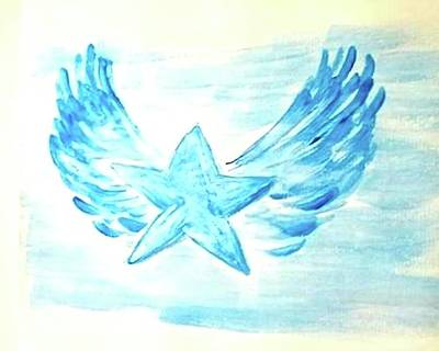 Painting - An Angel Gets Her Wings by Margaret Welsh Willowsilk