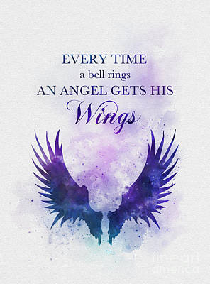 Mixed Media - An Angel Gets His Wings by Rebecca Jenkins