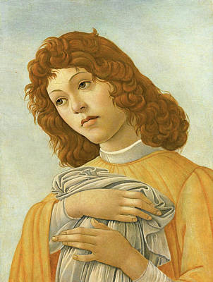 Sandro Botticelli Painting - An Angel Head And Shoulders by Sandro Botticelli