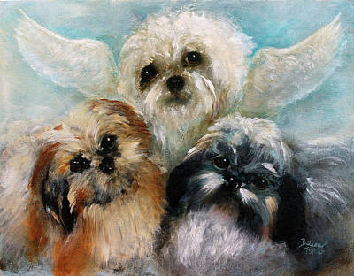 Painting - An Angel On Our Shoulders by Barbie Batson