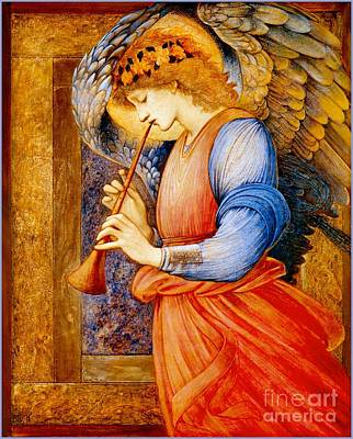 1833 Painting - An Angel Playing A Flageolet by Celestial Images