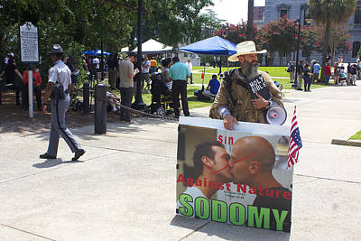 Photograph - An Anti-gay Guy At An Anti-confederate Flag Rally by Joseph C Hinson Photography