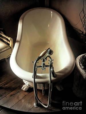 Faucet Photograph - An Antique Bath by Tom Gowanlock