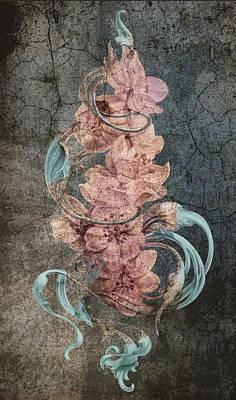 Squares Digital Art Drawing - An Antique Cherry by Irina Effa
