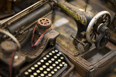 Photograph - An Antique Typewriter And Sewing by David Evans