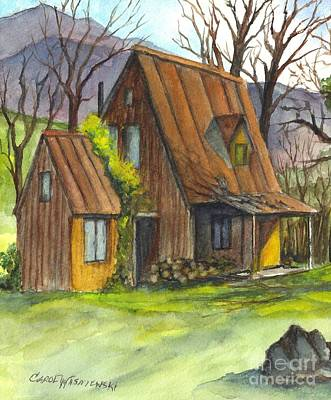 Painting - An Appalacian Cabin  by Carol Wisniewski