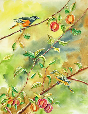 Garden Painting - An Apple A Day by Kathryn Duncan