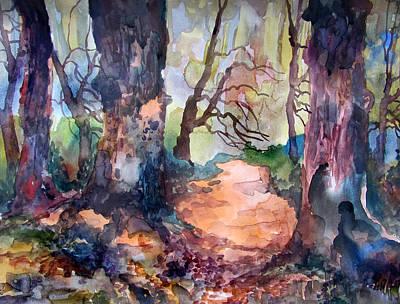 An April Path Original by James Huntley