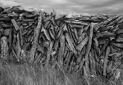 Photograph - An Aran Wall by John Farley