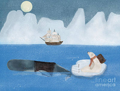 Print featuring the painting An Arctic Adventure by Bri B