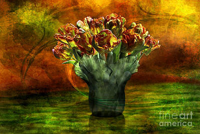 Digital Art - An Armful Of Tulips by Johnny Hildingsson