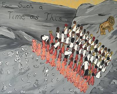 Ezekiel Painting - An Army Is Rising Up by Dayna Lopez