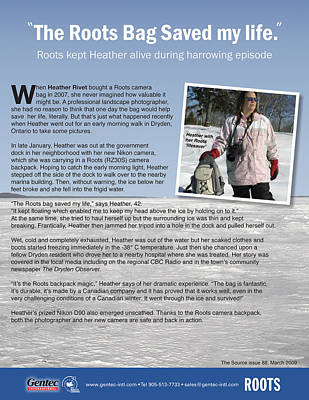 Heather Rivet Photograph - An Article About Me And This Winters Escapade by Heather  Rivet
