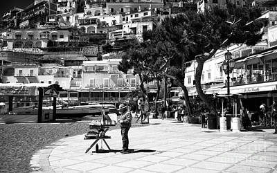 Photograph - An Artist In Positano by John Rizzuto