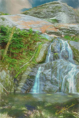 Digital Art - An Artist Waterfall Landscape. by Rusty R Smith